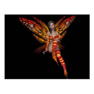 Duendecillo anaranjado de la mariposa de monarca postales
