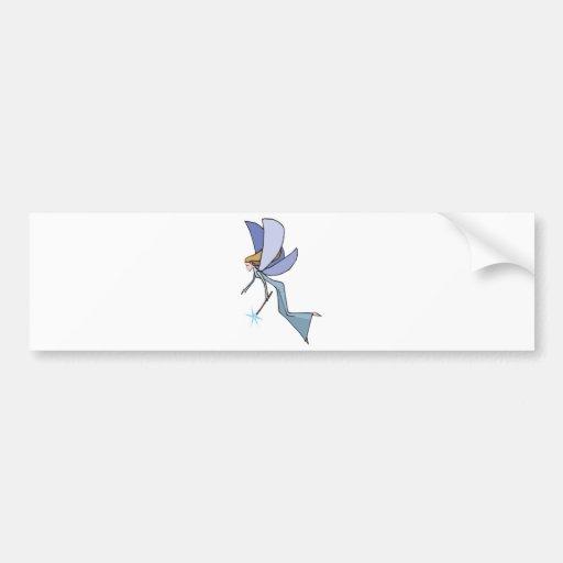 duendecillo azul de la hada del vuelo pegatina para auto