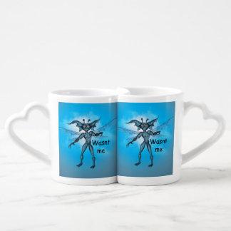 Duendecillo lindo tazas para parejas