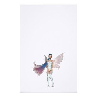 Duendecillo rosado y azul del pelo en blanco papelería personalizada