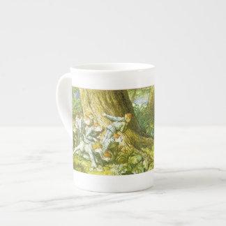 Duendes de madera que ocultan - taza de la porcela taza de porcelana