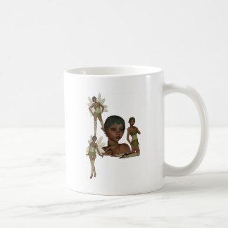 Duendes del duendecillo taza básica blanca