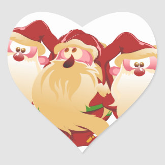 Duendes del navidad pegatina en forma de corazón
