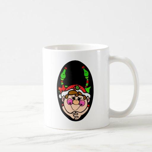 Duendes del navidad taza de café