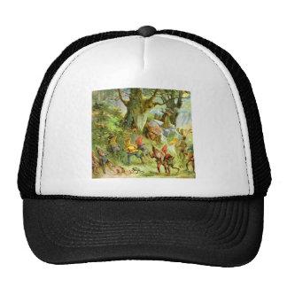 Duendes y gnomos en el bosque mágico oscuro gorras de camionero