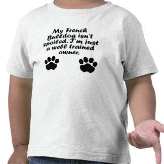Dueño bien entrenado del dogo francés camiseta