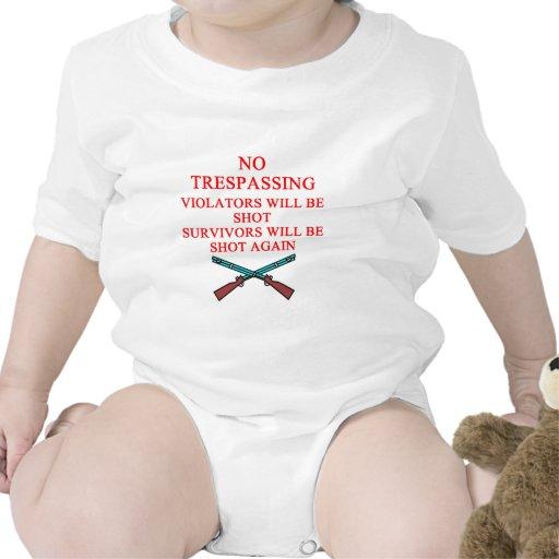 dueño de arma ninguna violación trajes de bebé