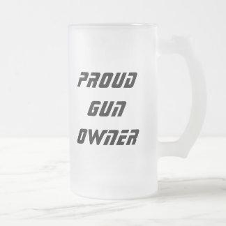 Dueño de arma Stine Taza De Cristal