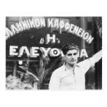 Dueño de cafetería griego 1937 postales