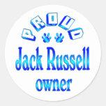 Dueño de Jack Russell Etiquetas Redondas