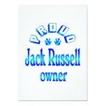Dueño de Jack Russell Invitación 12,7 X 17,8 Cm