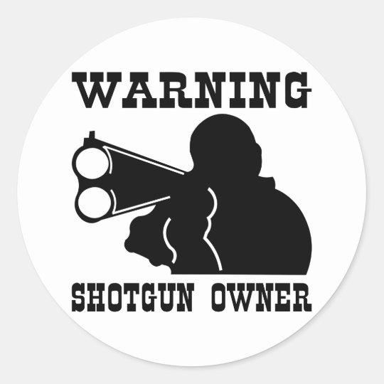 Dueño de la escopeta pegatina redonda