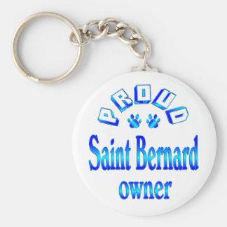 Dueño de St Bernard Llavero Redondo Tipo Pin