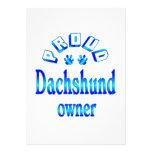 Dueño del Dachshund Comunicados Personales