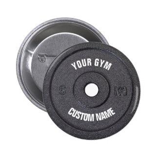 Dueño del gimnasio o botón divertido del usuario pin redondo de 2 pulgadas