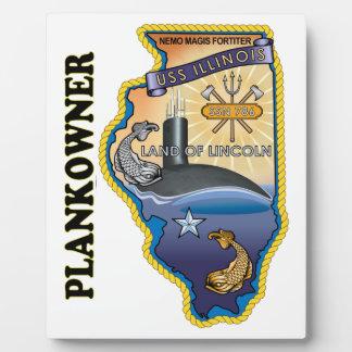 Dueño del tablón de SSN 786 USS Illionois Placa De Plastico