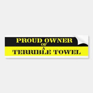 Dueño orgulloso etiqueta de parachoque