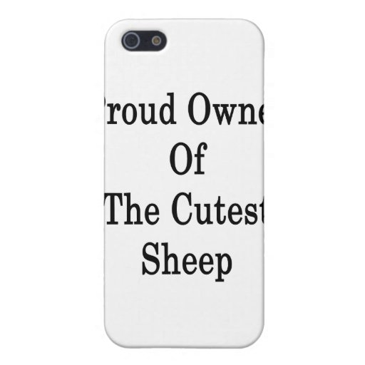 Dueño orgulloso de las ovejas más lindas iPhone 5 protectores
