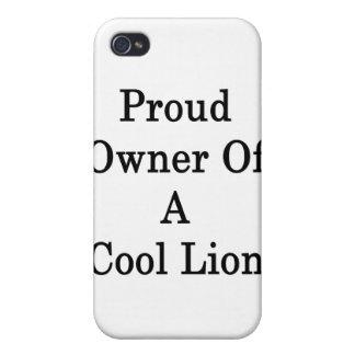 Dueño orgulloso de un león fresco iPhone 4 cárcasa