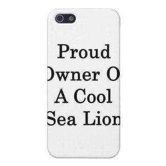 Dueño orgulloso de un león marino fresco iPhone 5 cárcasa
