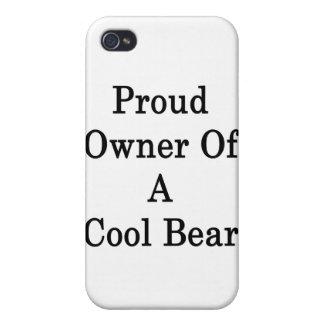 Dueño orgulloso de un oso fresco iPhone 4 carcasas
