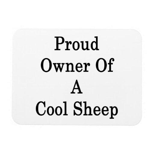 Dueño orgulloso de una oveja fresca iman rectangular