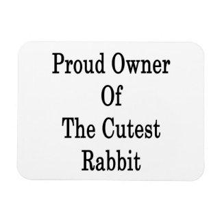 Dueño orgulloso del conejo más lindo imanes flexibles
