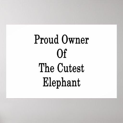 Dueño orgulloso del elefante más lindo poster