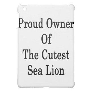 Dueño orgulloso del león marino más lindo