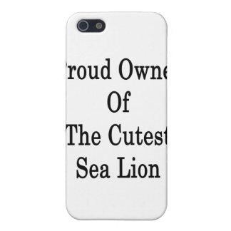 Dueño orgulloso del león marino más lindo iPhone 5 coberturas