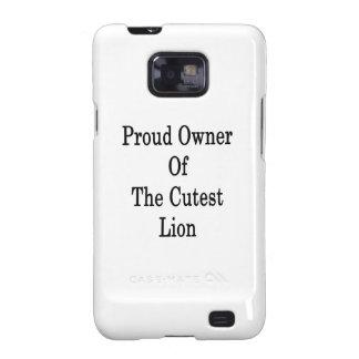 Dueño orgulloso del león más lindo galaxy s2 fundas