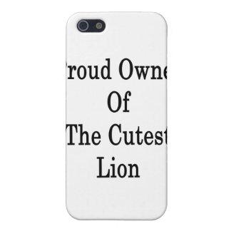Dueño orgulloso del león más lindo iPhone 5 cárcasas