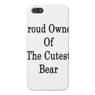 Dueño orgulloso del oso más lindo iPhone 5 carcasas