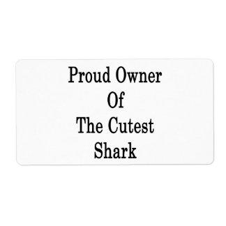 Dueño orgulloso del tiburón más lindo etiqueta de envío
