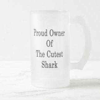 Dueño orgulloso del tiburón más lindo tazas de café