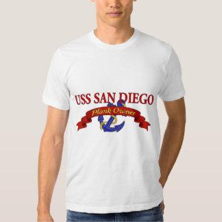 Dueño USS San Diego del tablón Poleras
