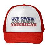 Dueño y AMERICANO de arma Gorras