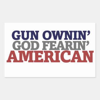 Dueño y AMERICANO de arma Etiquetas