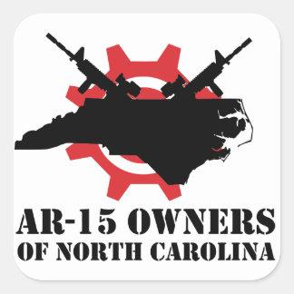 Dueños AR-15 del pegatina cuadrado de Carolina del