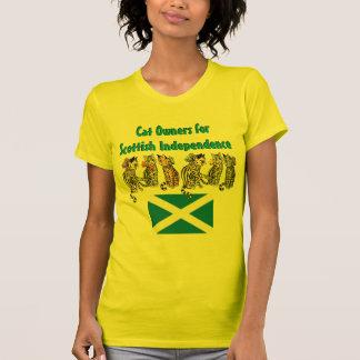 Dueños del gato para la camiseta escocesa de la in