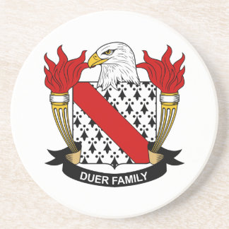 Duer Family Crest Coaster