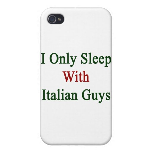 Duermo solamente con los individuos italianos iPhone 4 carcasa