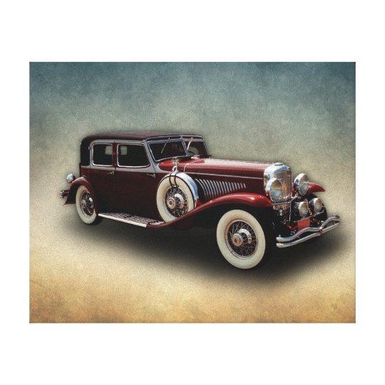 Duesenberg (Duesy) Model J Classic Car Canvas Print