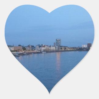 Duesseldorf Pegatina En Forma De Corazón