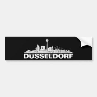 Duesseldorf town center of skyline bumper sticker