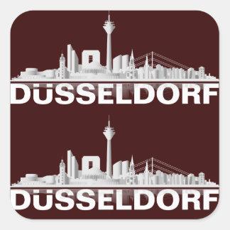 Duesseldorf town center of skyline gift idea sticker