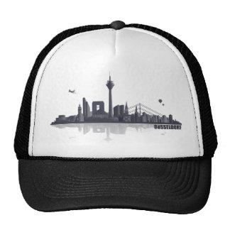 Duesseldorf town center of skyline trucker hat