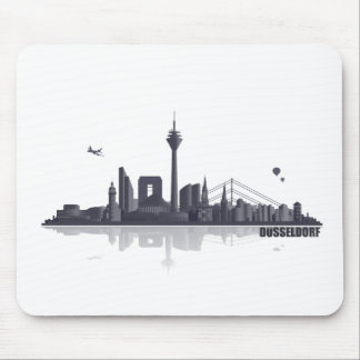 Duesseldorf town center of skyline mouse pad