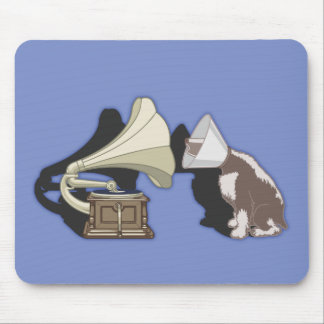 Duet - Dog & Gramophone Mouse Pad