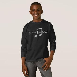 Duet (Notes) Boy's Dark Long Sleeve T-Shirt